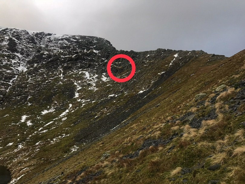 Location of rescue on Sharp Edge