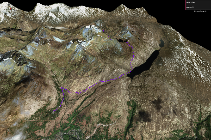 Screen shot of 3D walk - aerial photography