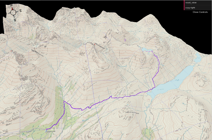 Screen shot of 3D walk - waymaps tiles