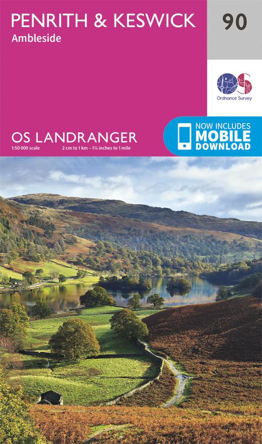 Buy OS Landranger 90 - 'Penrith & Keswick, Ambleside' from Amazon