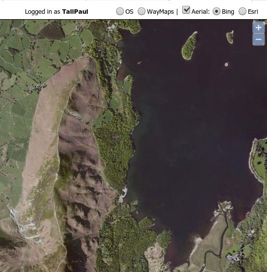 Bing aerial tiles selected