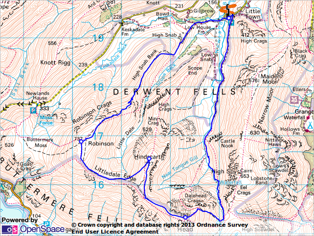 Walk 51 - overall walk map