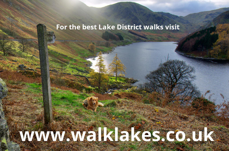 Looking down to Haweswater from the first wall on the descent