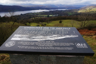 Wainwright diorama on Orrest Head