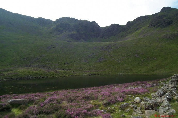 Chapel Crags from Bleaberry Tarn.