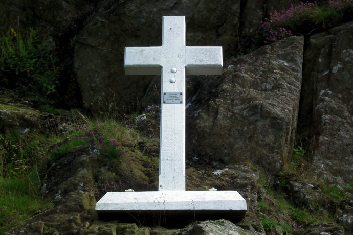The Fanny Mercer memorial cross.