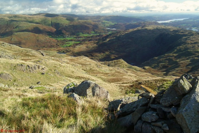 Towards Grasmere from Codale Head.