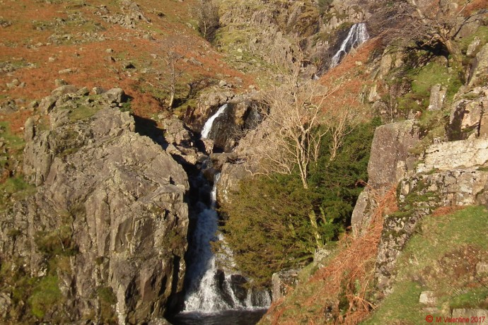 Stickle Ghyll waterfalls.