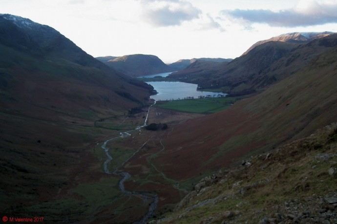 Looking towards Buttermere from the path down to Warnscale Bottom.