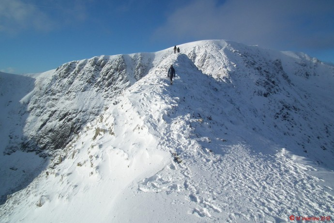 Looking along Striding Edge.