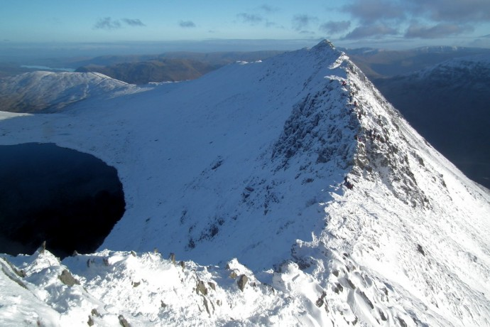 Looking back across Striding Edge.