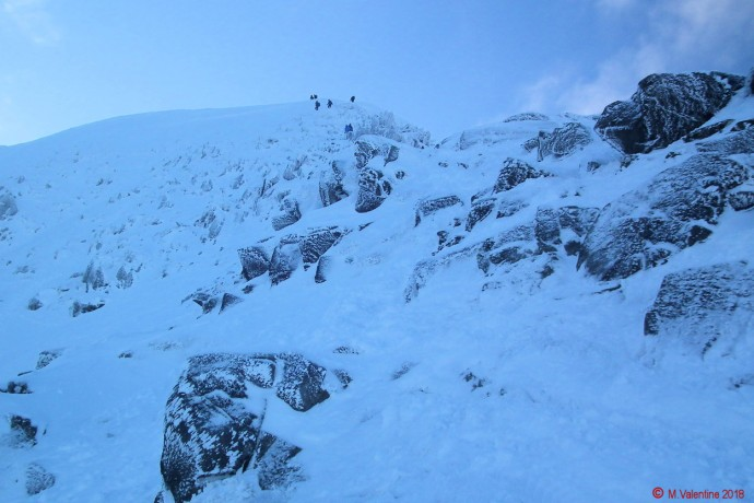Looking back up Swirral Edge.