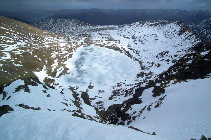 Red Tarn from the top of Viking Buttress.