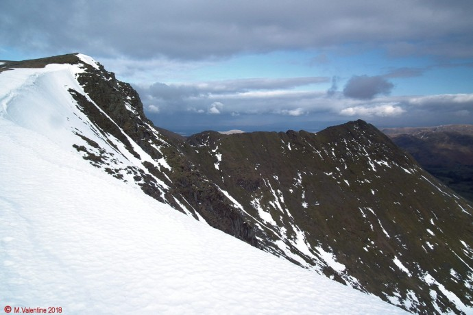 Looking back towards Striding Edge.