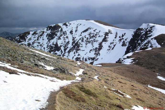 Dollywaggon Pike from Nethermost Pike.