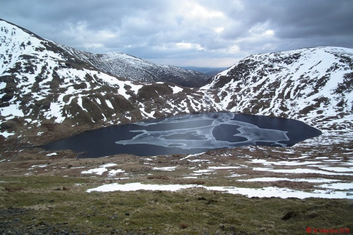 Approaching Grisedale Tarn.