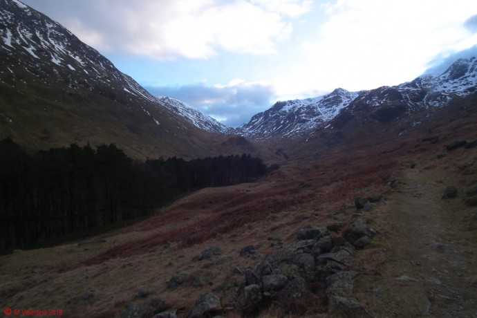Looking back towards the head of Grisedale.