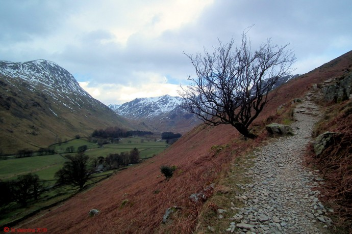 St.Sunday Crag and the Grisedale Valley from the Hole-in-the-wall path.