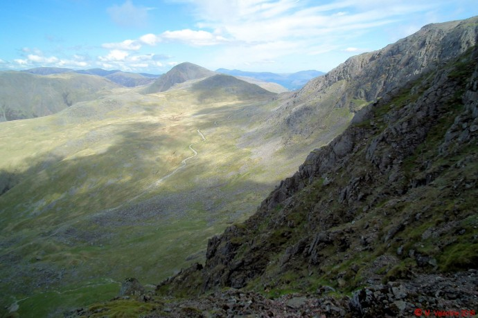 Path to Lingmell Col.