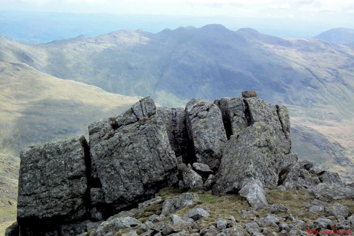 Crinkle Crags from Scafell.