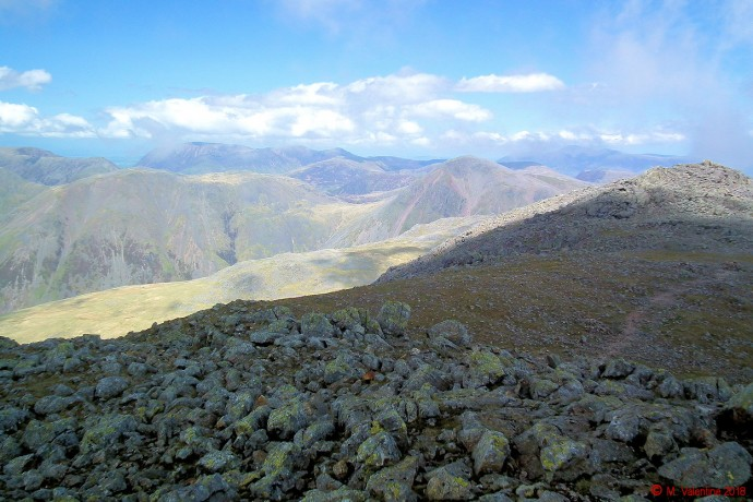 Great Gable etc. - from Scafell summit.