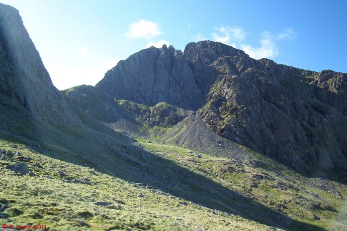 Scafell from Hollow Stones area.