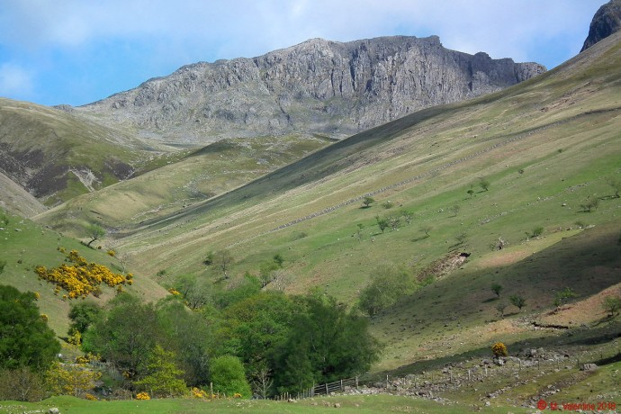 Scafell Pike from Brackenclose area.