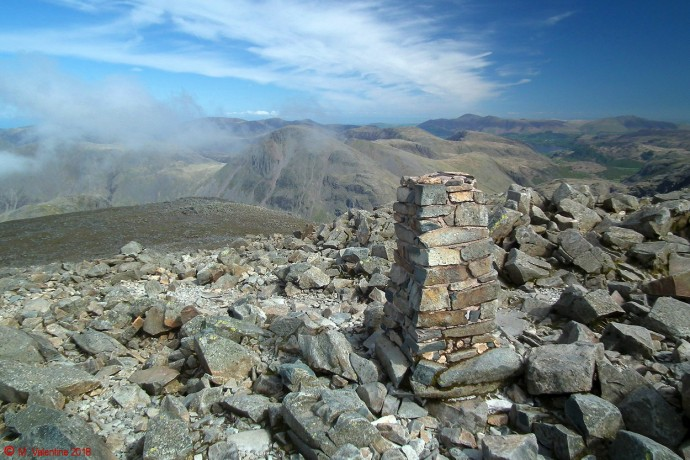 Scafell Pike trig. pillar.