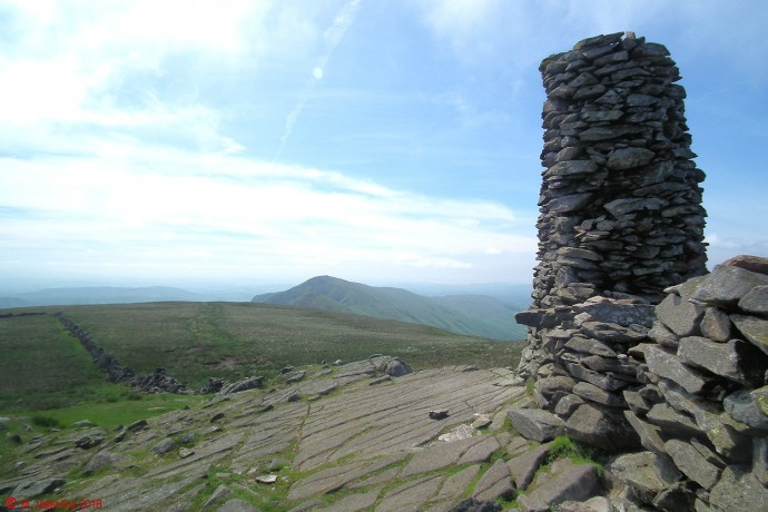 Looking back from Thornthwaite Beacon.