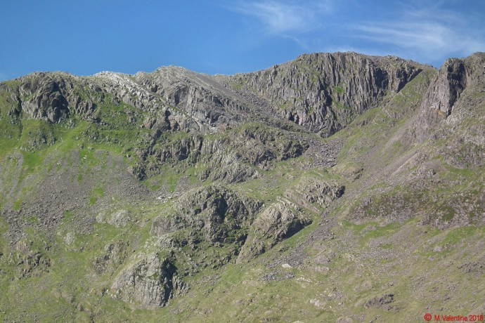 Bowfell crags and the Great Slab.