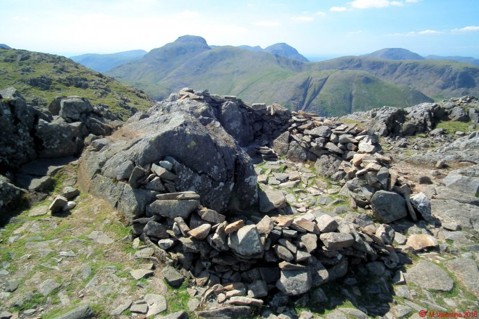 Great Gable from Glaramara summit.