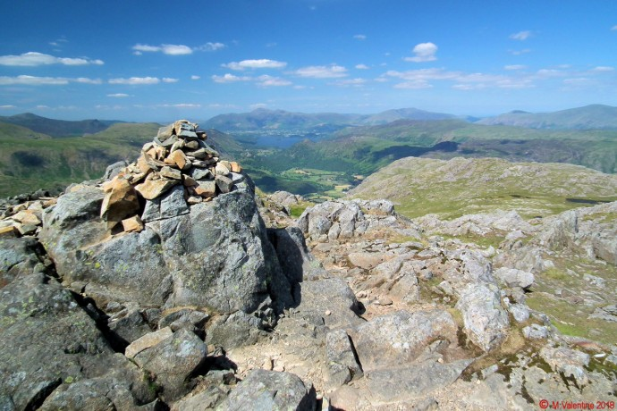 Skiddaw from Glaramara summit.