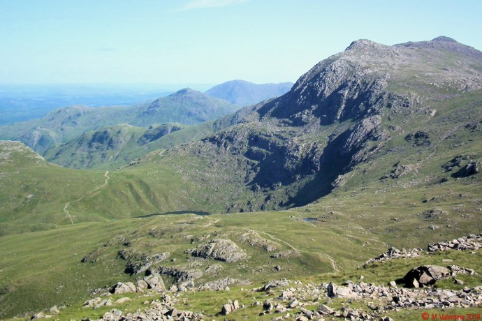 Bowfell from Allen Crags.
