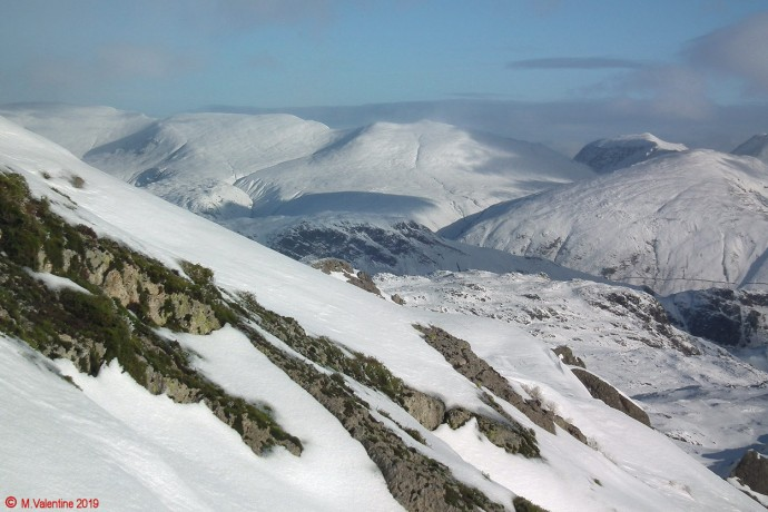 The Helvellyn range from Pavey Ark.
