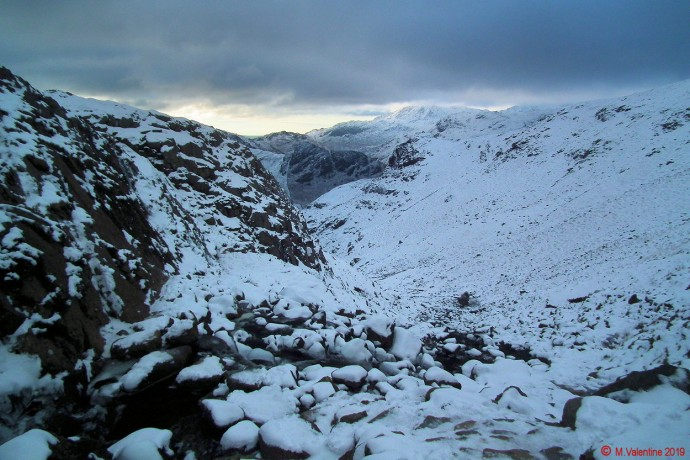 Looking back down Stickle Ghyll.