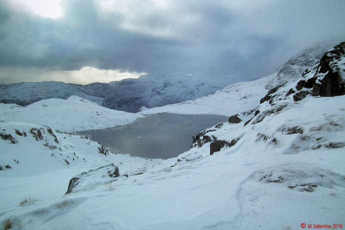 Looking back to Stickle Tarn.