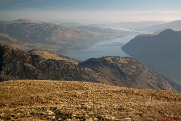 Hazy looking Ullswater.