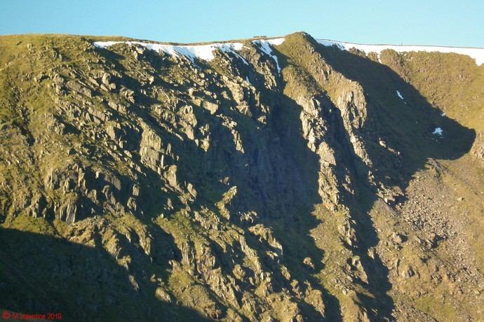 Helvellyn crags close-up.