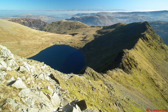 Looking back along Striding Edge.