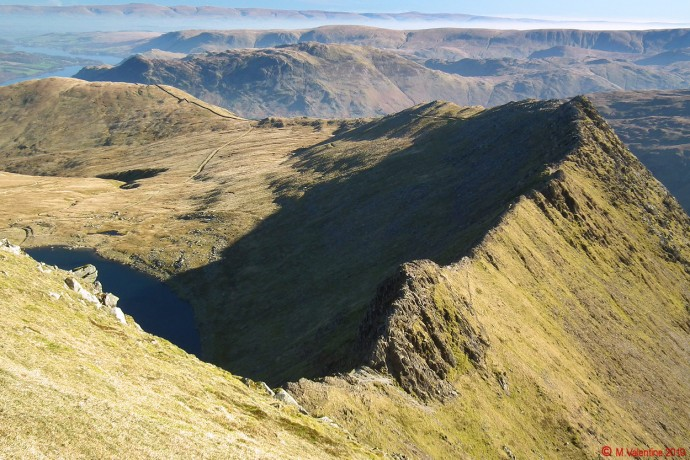 Striding Edge to Birkhouse Moor view.