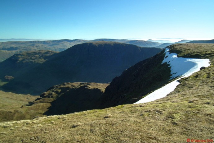 St. Sunday Crag from Nethermost Pike plateau.