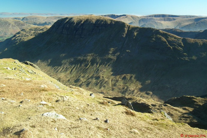 St. Sunday Crag from Dollywaggon Pike summit.