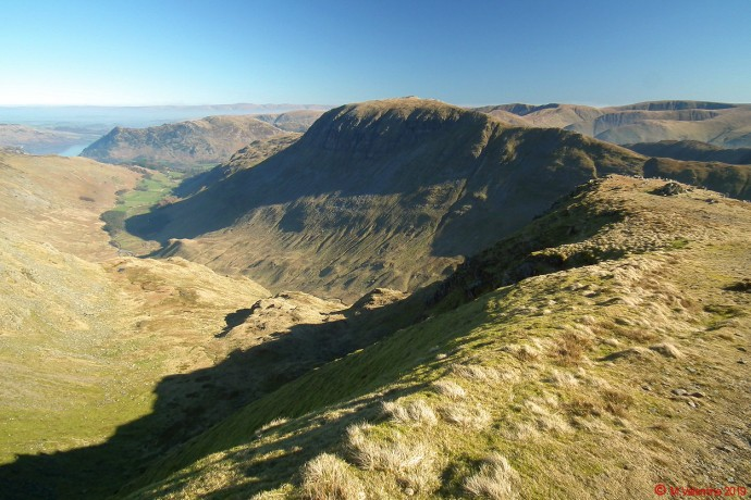 St. Sunday Crag from flanks of Dollywaggon Pike.