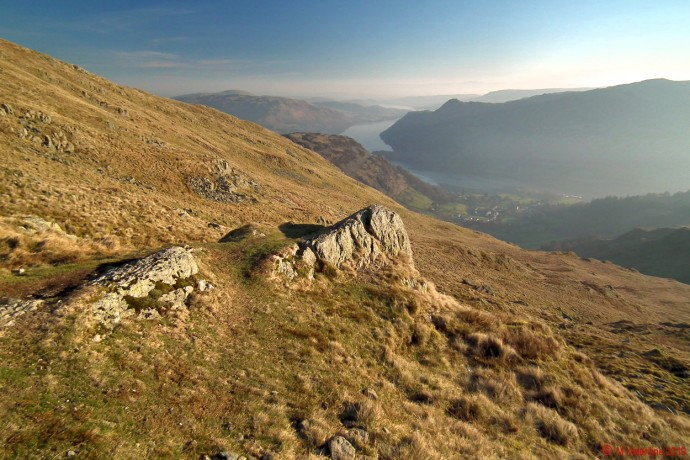 Ullswater from the preferred path to Birkhouse Moor.
