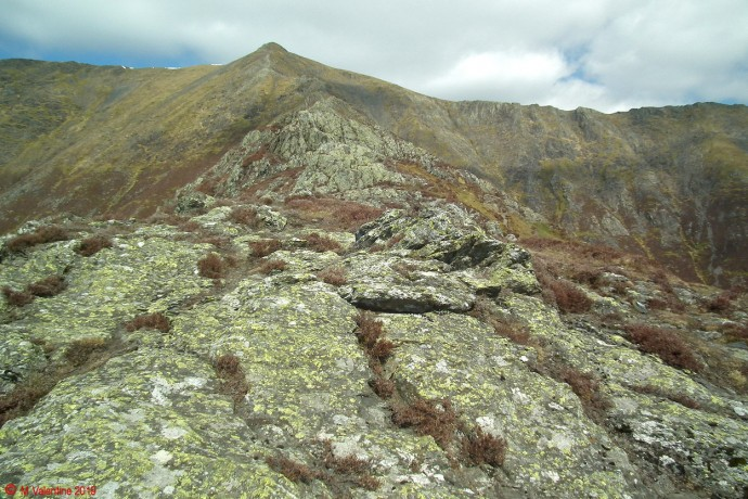 Looking back up to Hall's Fell Ridge.