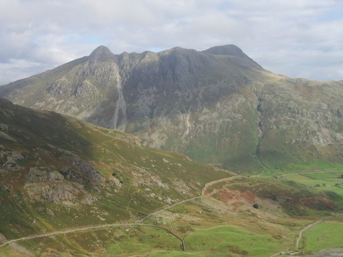 Langdale Pikes from Brown Gill