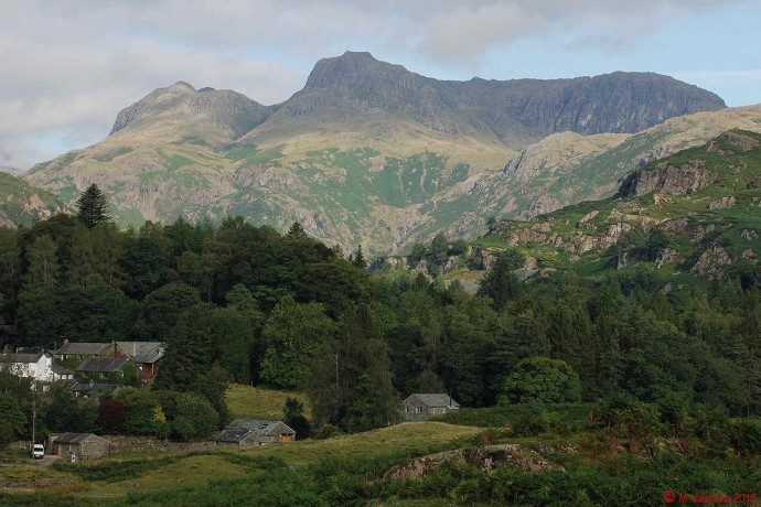 The Langdales from Elterwater area.