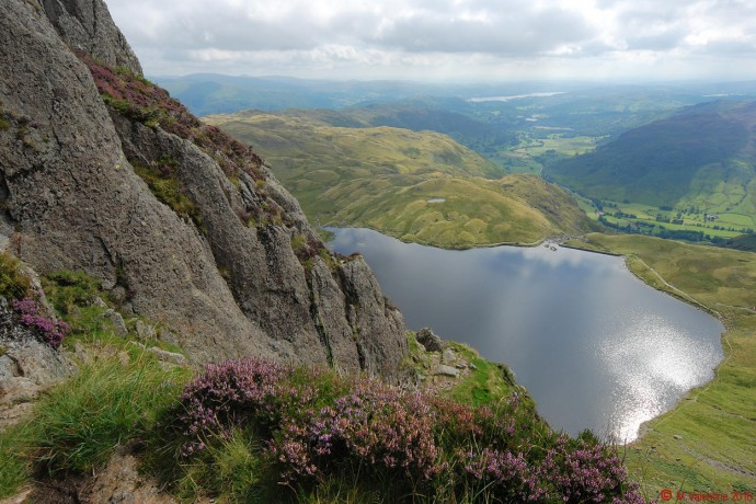 Stickle Tarn from the final terrace.