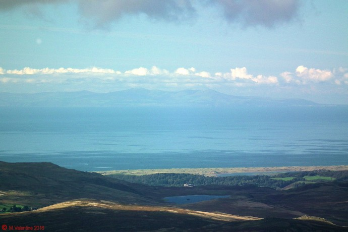 The Isle of Man, taken from summit of Dow Crag.