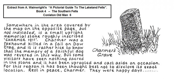 Charmer's Grave - Extract from Wainwright's Guide (1960).